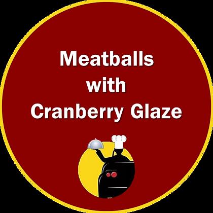 Meatballs w/ Cranberry Glaze