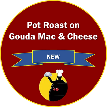 Pot Roast on Gouda Mac & Cheese