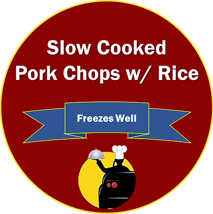 Slow Cooked Pork Chops over Rice