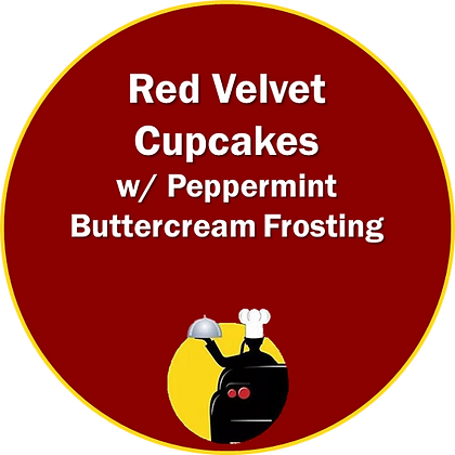Red Velvet Cupcakes w/ Peppermint Frosting