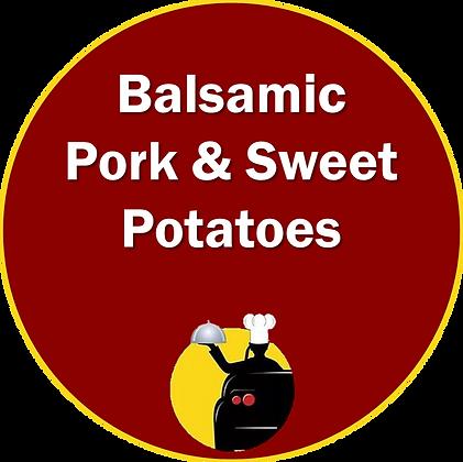 Balsamic Pork & Sweet Potatoes