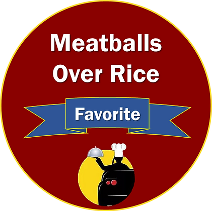Gravy Smothered Meatballs Over Rice