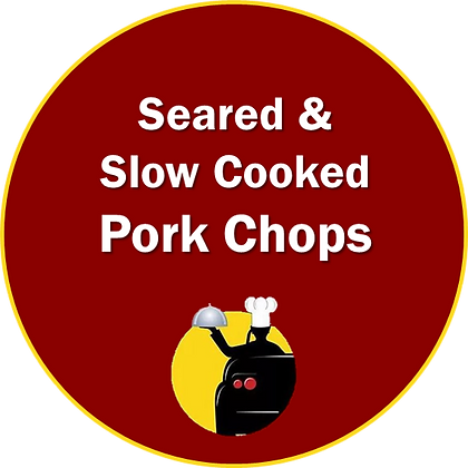 Seared & Slow Cooked Pork Chops