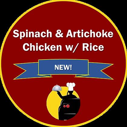 Spinach & Artichoke Chicken w/ Rice