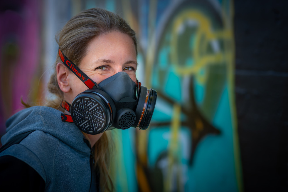Graffitikünstlerin Melly