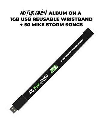 No Fux Given USB Wristband