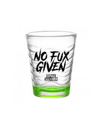 Neon No Fux Given Shot Glass