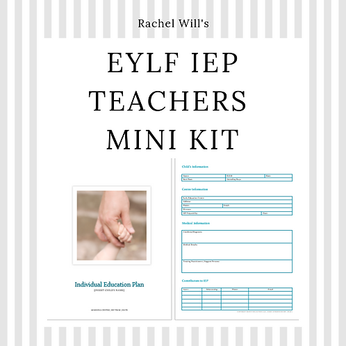 Early Childhood IEP-ILP Template Mini Kit