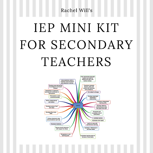 IEP Mini Kit for Secondary Teachers