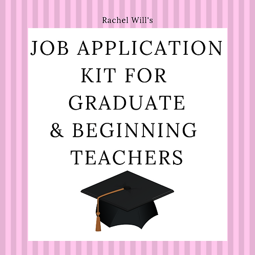 Teacher Resume and Job Application Kit with Standards Included