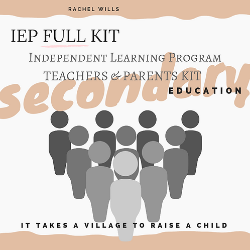 IEP Complete Kit for Secondary Education