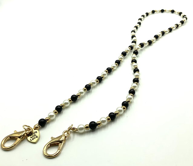 ONE AND DONE - BLACK/PEARL/GOLD BALLS BEADZ