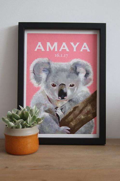 Custom Koala Fine Art Print
