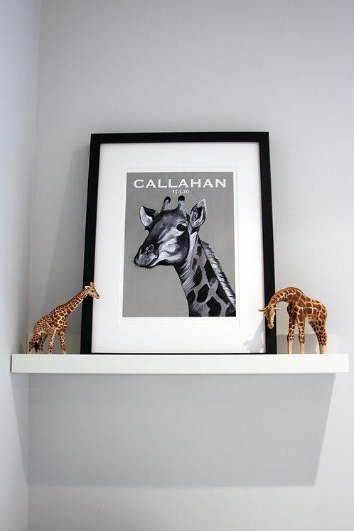 Custom Giraffe Fine Art Print