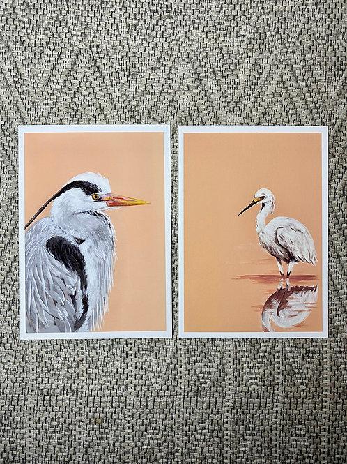 2 x Heron Fine Art Prints