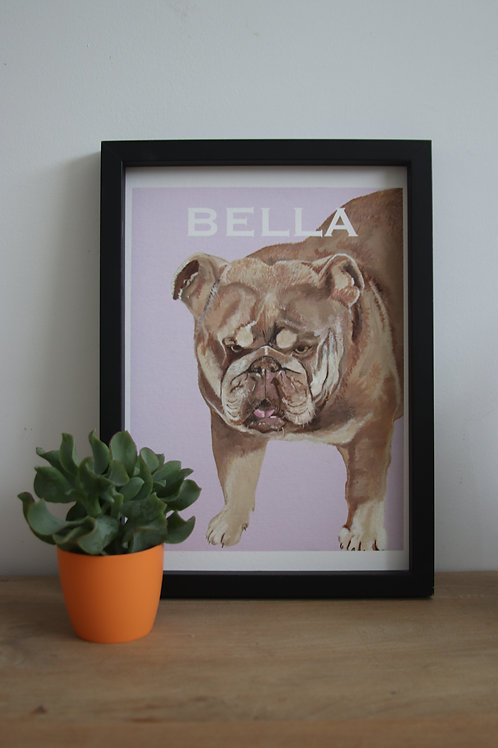 Custom Bulldog Fine Art Print