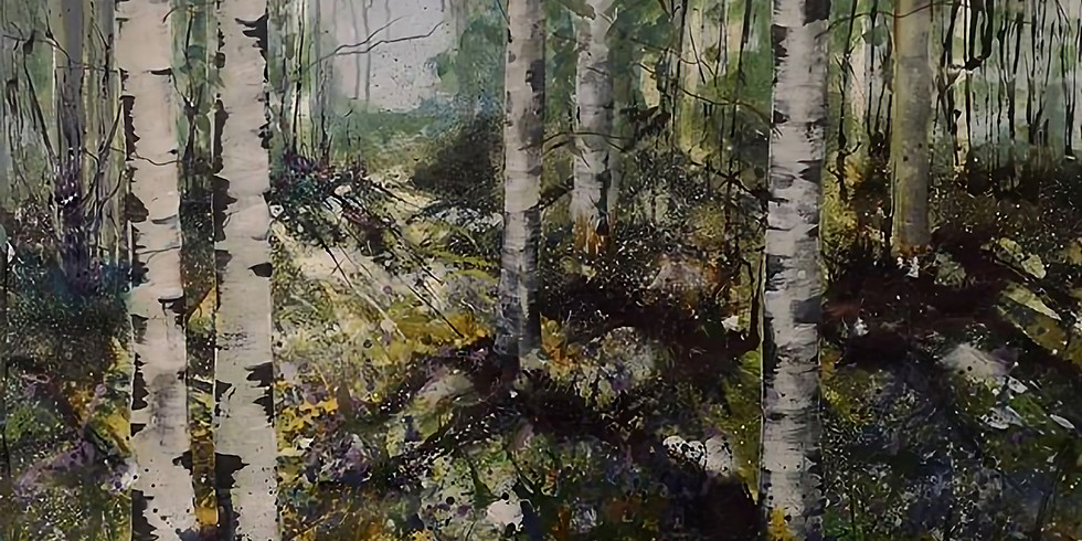 """""""Through the birch forest"""" April date"""