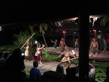 Holiday in Cook Islands        Part 4                      Te Vara Nui Village over water night show