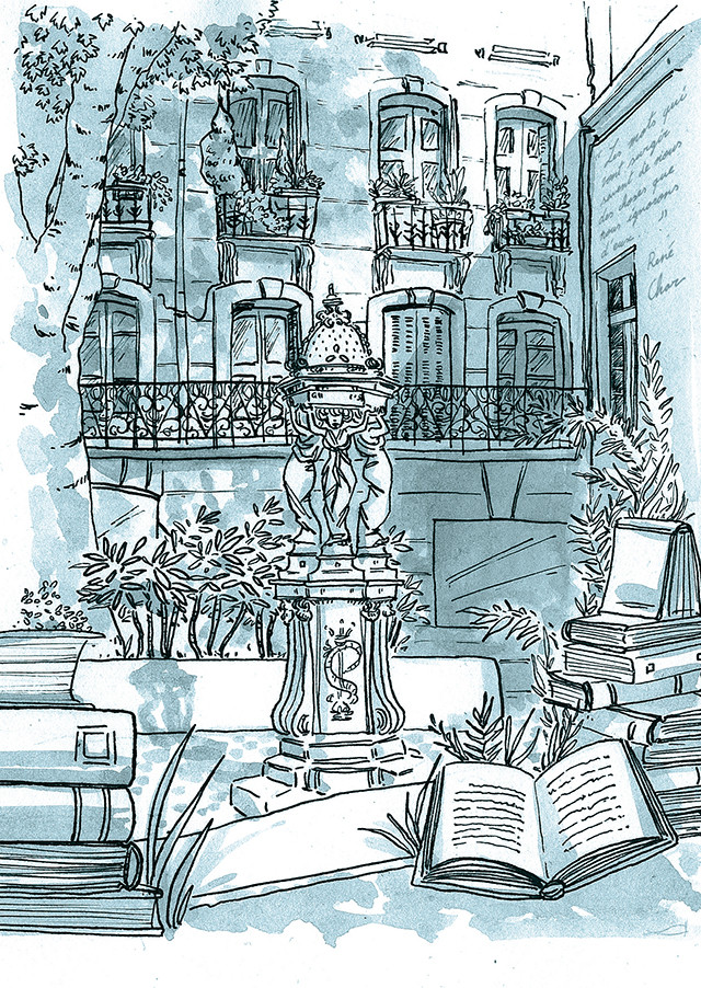 Fontaine de lecture