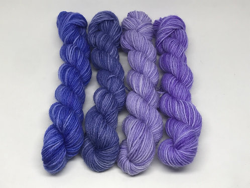 Ready to ship - 4 ply violet minis