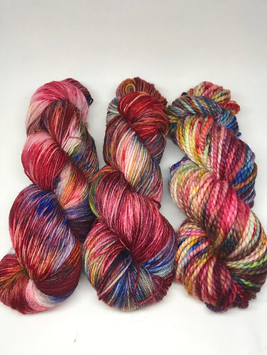 Rainbow Bright - 4ply DK and chunky