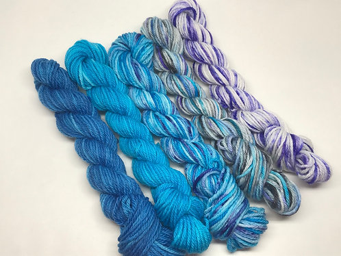 DK minis - Delve/Tranquility/Calm waters/Feeling Badgered/Pansy petals