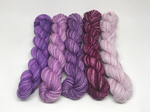 Dyed to order - muted purple