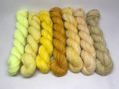 Ready to ship - 4 ply yellow minis