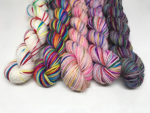 4 ply mini skeins - Pick and mix, Taurus, Aquarius, unrepeatable