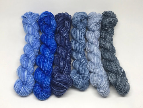 Ready to ship - 4 ply blue minis