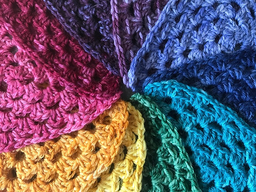Make your own luck shawl yarn set - jewel toned rainbow