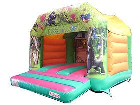 Jungle theme A-Frame Bounce Castle