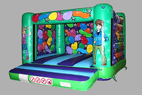 H Frame Bouncy Castle with Changeable Painted Artwork