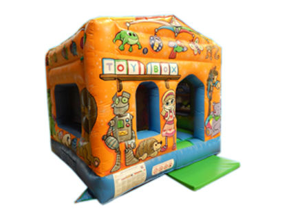 Tots Box Unit Bouncy Castle with Deluxe artwork