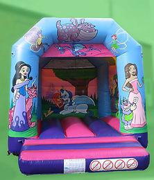 Princess Small A Frame Bouncy Castle