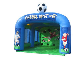 Inflatable Football shootout game Multisports shootout with barrier