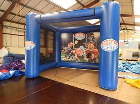 Inflatable shootout game  American Football Cube Shootout