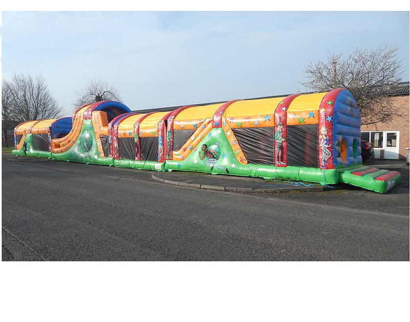 Multi Section Obstacle Course - Sport and Athlete theme Bouncy Castle
