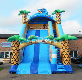18ft Platform Slide in beach theme