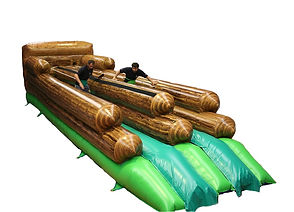 Inflatable Bungee in Log theme with wood grain