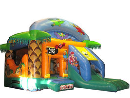 Pirate Bounce and Slide Combi with Palm trees