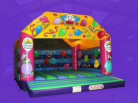 Friendly Clown Large A-Frame Bouncy Castle
