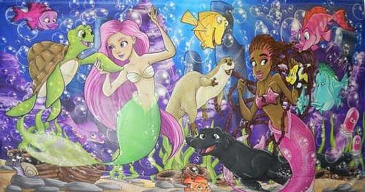 Mermaid-theme interchangeble panel