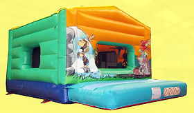 Apex roof Box Bouncer Bouncy Castle with animal artwork
