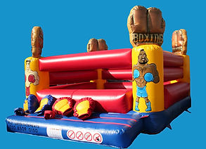 Inflatable Deluxe Bouncy Boxing with Glove towers