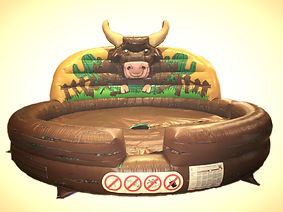 Inflatable Rodeo Bull bed Western Style with Bulls Head