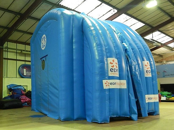 Inflatable Power Station containment buildings