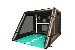 Black Tubular football shootout with Green Groundsheet