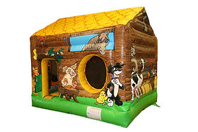 Farm theme Box Bouncer Bouncy Castle with Ball Pool area