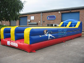 Plain Inflatable Bungee Run with themed logo